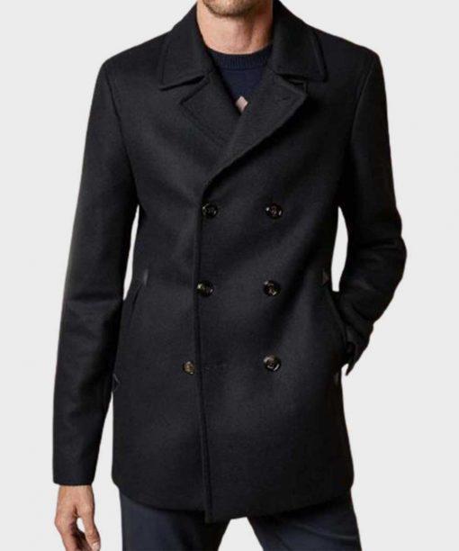 Dash & Lily Austin Abrams Black Coat