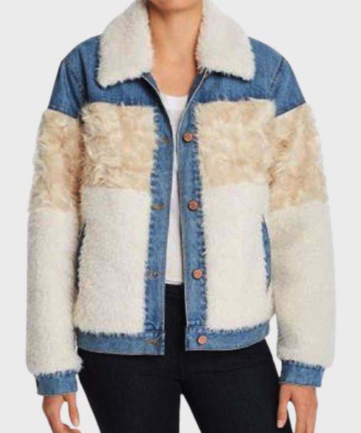 Dash and Lily Fur Denim Jacket