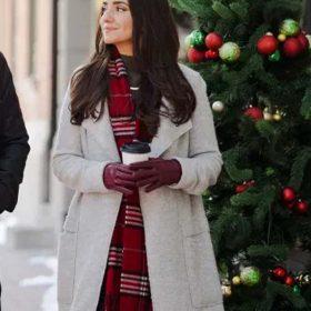 Dashing Home for Christmas Paniz Zade White Long Coat