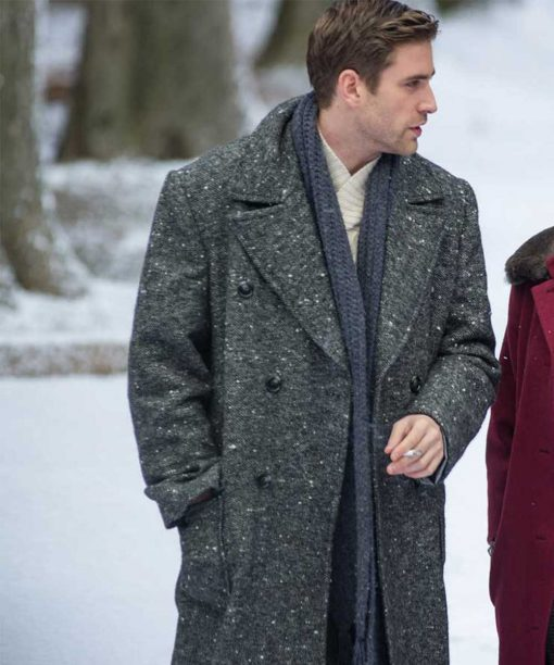 Despite the Falling Snow Oliver Jackson-Cohen Grey Coat