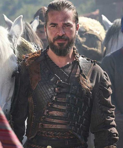 Engin Altan Düzyatan Dirilis Ertugrul Leather Vest