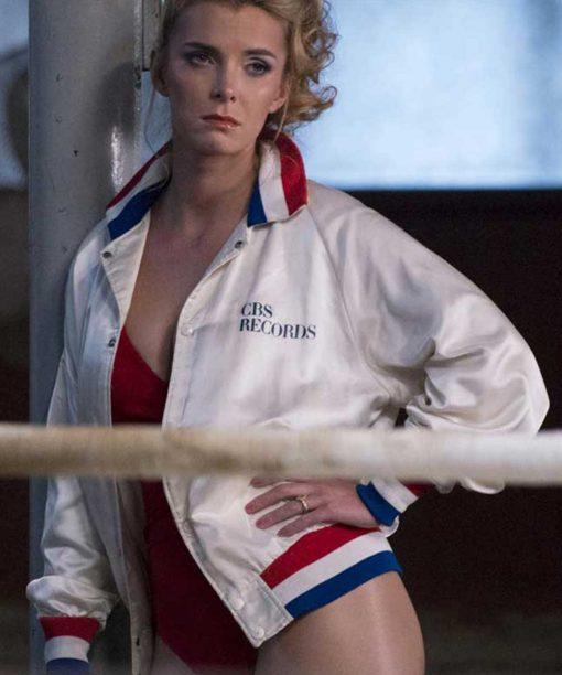 Debbie Eagan Glow White Bomber Jacket