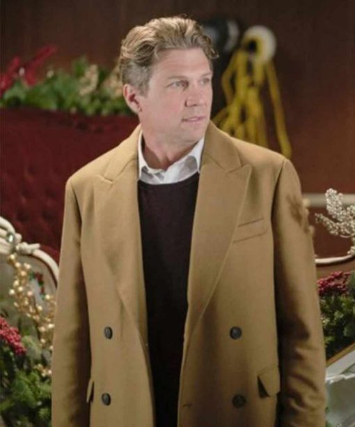 Good Morning Christmas Marc Blucas Brown Double-Breasted Coat