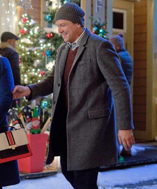Marc Blucas Good Morning Christmas Grey Wool-Blend Coat