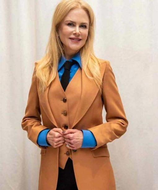 The Undoing Nicole Kidman Tan Blazer