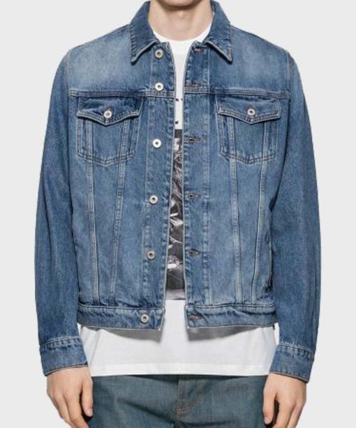 Casual Henry Blue Denim Jacket