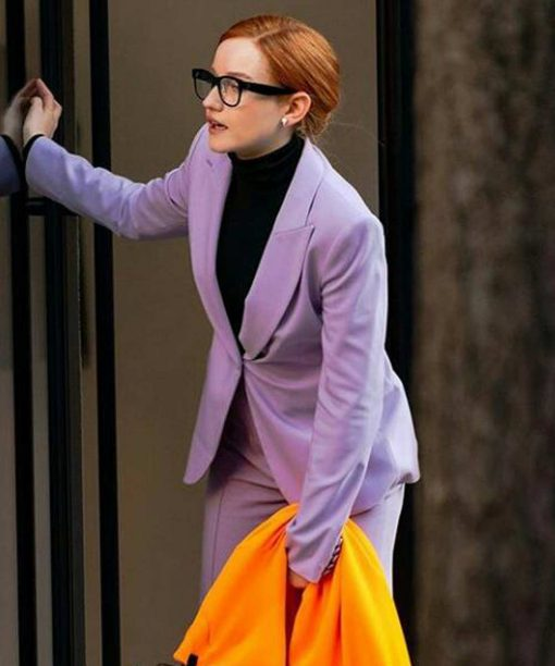 Inventing Anna Julia Garner Purple Blazer Coat