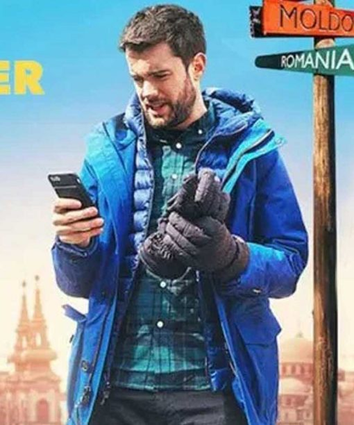 Jack Whitehall Travels With My Father Blue Hooded Parka Jacket