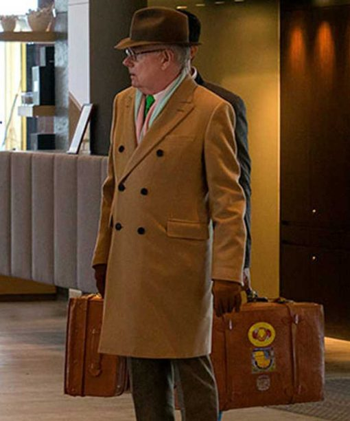 Jack Whitehall Travels With My Father Michael Whitehall Camel Brown Coat