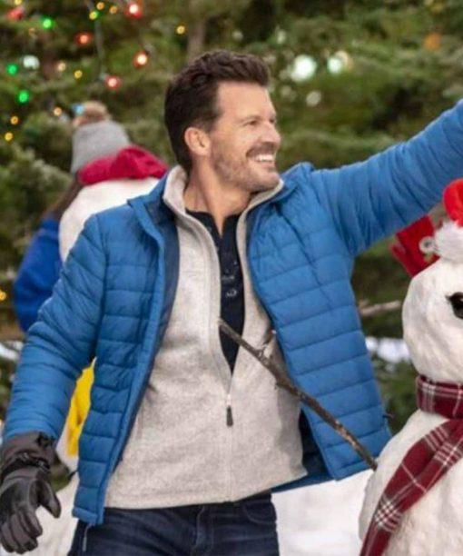 Meet Me at Christmas Mark Dekli Blue Puffer Jacket