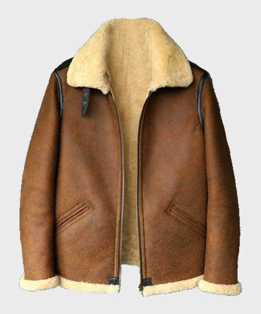 Brown Aviator Mens B3 Leather Jacket