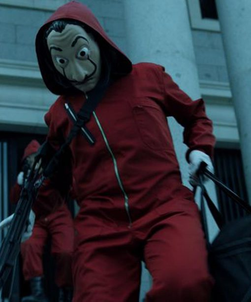Money Heist La Casa De Papel Red Cotton Jacket