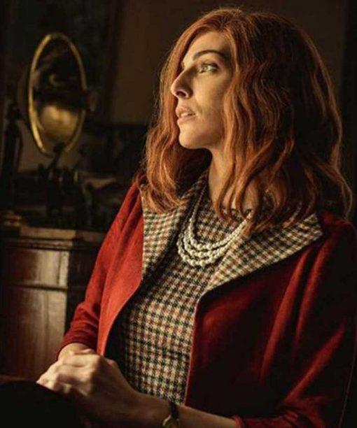 Paranormal Maggie Mckillop Maroon Coat