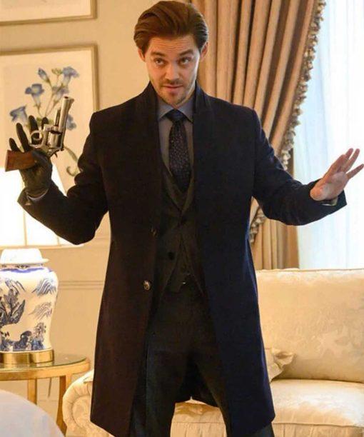 Tom Payne Prodigal Son Black Coat
