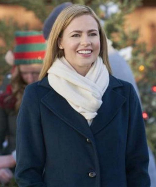 Project Christmas Wish Amanda Schull Blue Trench Coat