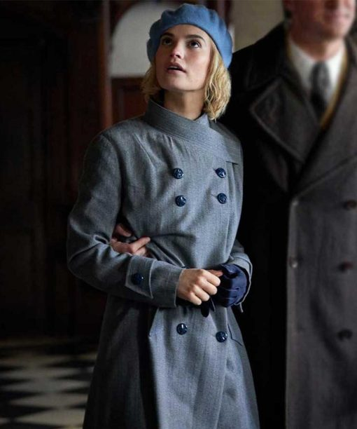 Rebecca Lily James Blue Trench Coat