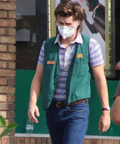 Stranger Things Joe Keery Green Cotton Vest