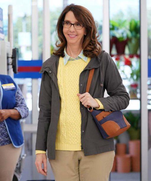 Superstore Irene White Grey Cotton Jacket