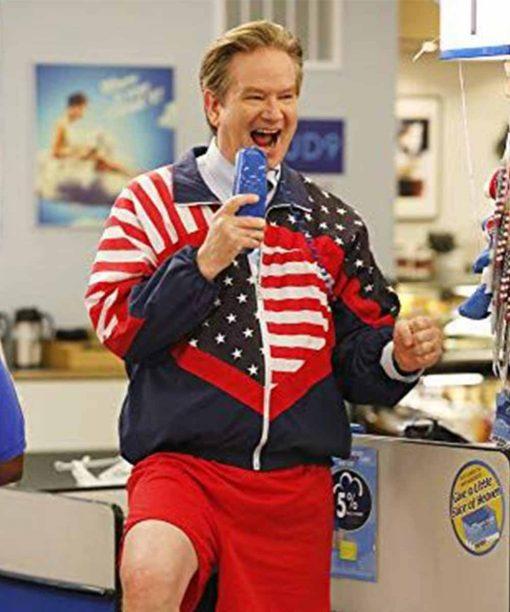 Superstore Mark McKinney US Flag Jacket