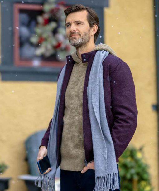 Lucas Bryant The Angel Tree Purple Wool-Blend Jacket