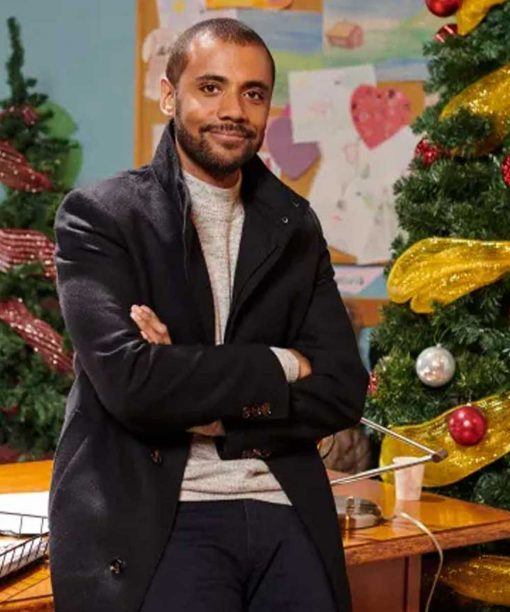The Christmas Aunt Jarod Joseph Black Trench Coat