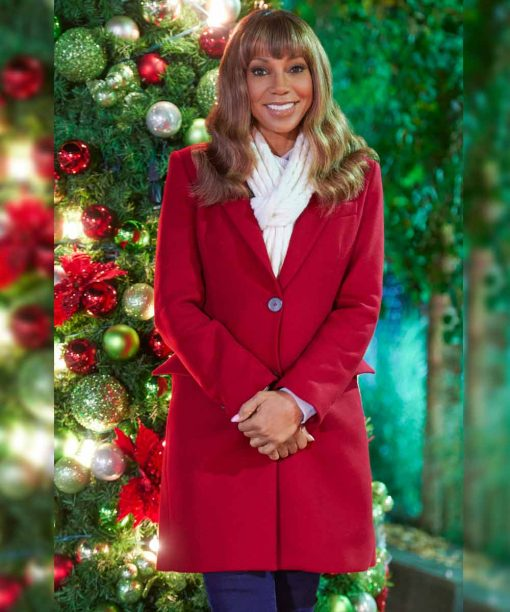The Christmas Doctor Holly Robinson Peete Red Coat
