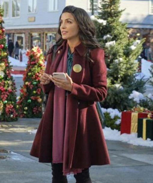 Nazneen Contractor The Christmas Ring Maroon Trench Coat
