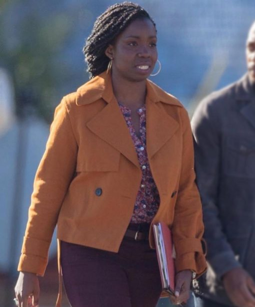 The Falcon And The Winter Soldier Adepero Oduye Orange Cotton Jacket