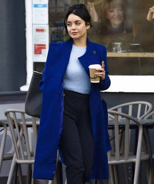 Vanessa Hudgens The Princess Switch: Switched Again Blue Trench Coat