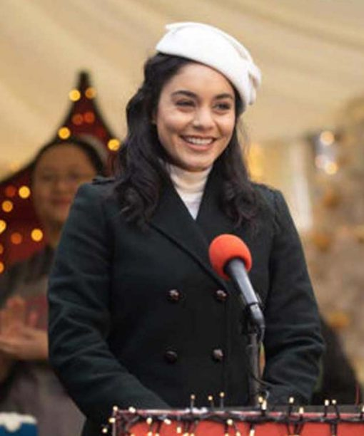 The Princess Switch: Switched Again Vanessa Hudgens Black Trench Coat