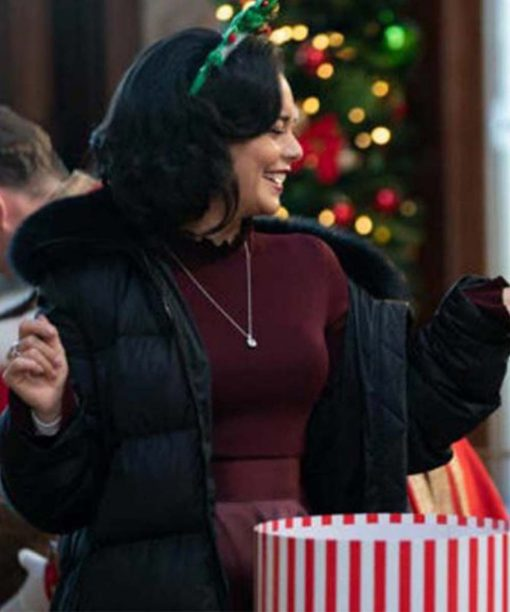 The Princess Switch: Switched Again Vanessa Hudgens Black Puffer Jacket