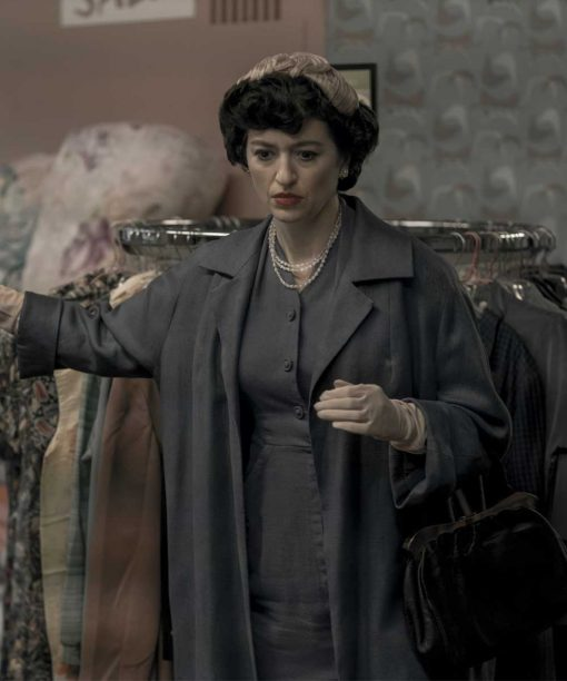 The Queen's Gambit Marielle Heller Grey Long Coat