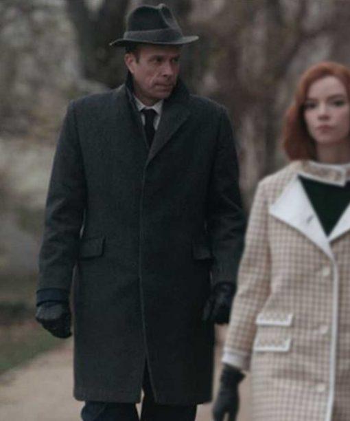 The Queen's Gambit John Schwab Grey Wool-Blend Coat