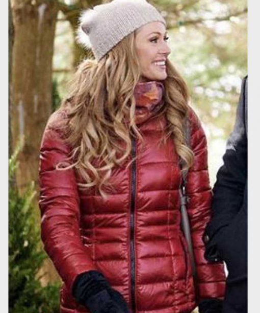 The Santa Squad Rebecca Dalton Maroon Puffer Jacket