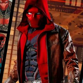 Titans S03 Jason Todd Brown Distressed Jacket