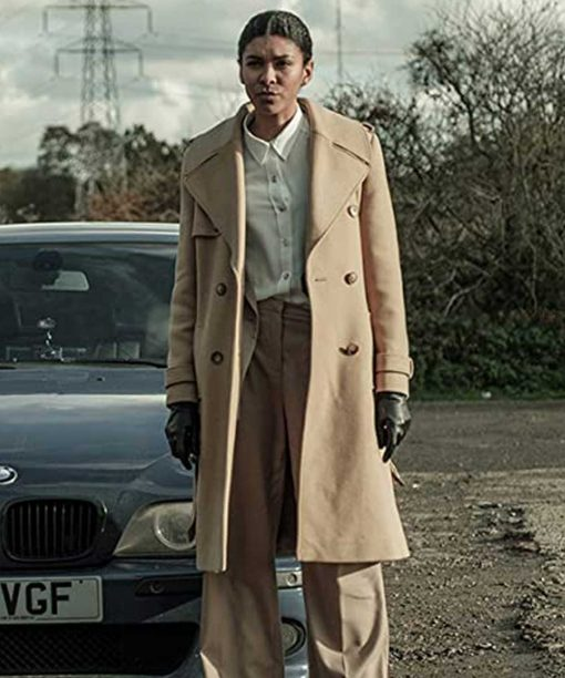 Two Weeks To Live Thalissa Teixeira Double-Breasted Trench Coat