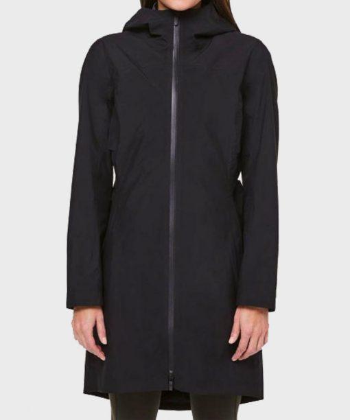 Melinda Monroe Virgin River S02 Blue Hooded Coat