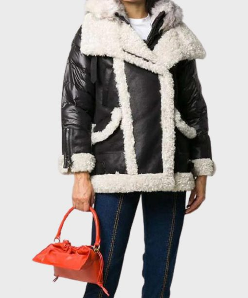 Womens Shearling Padded Jacket