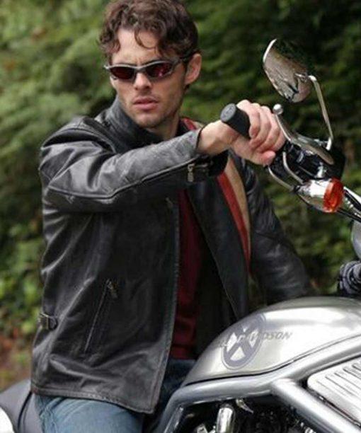 X-Men 2 James Marsden Black Biker Jacket