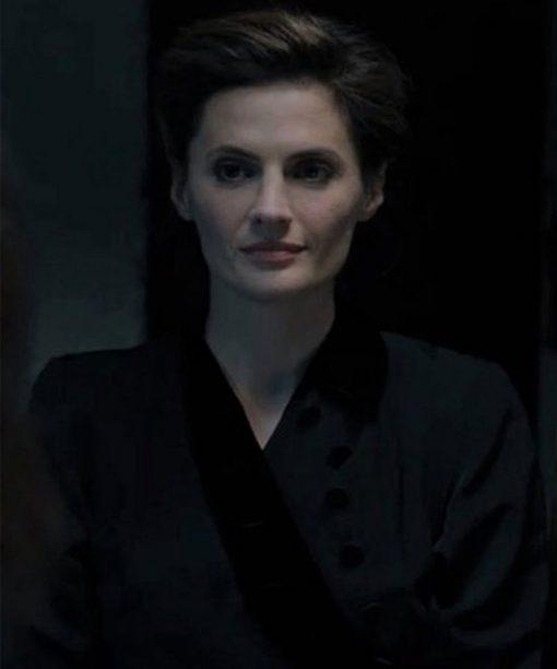 A Call To Spy Stana Katic Black Long Coat