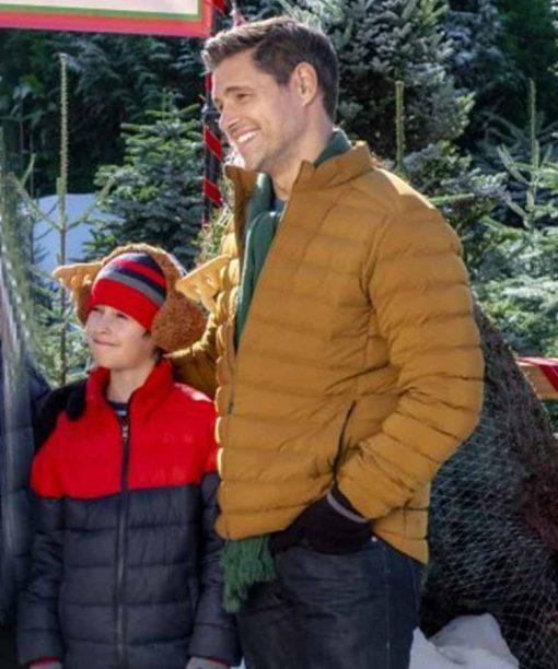 A Godwink Christmas Second Chance First Love Pat Mustard Puffer Jacket