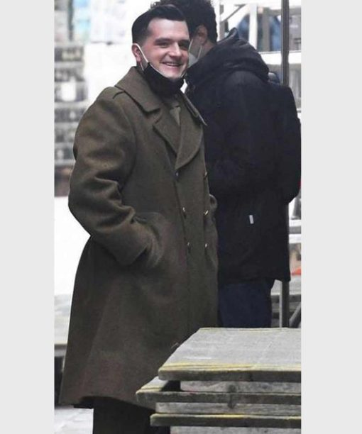 Across the River and Into the Trees Josh Hutcherson Brown Trench Coat