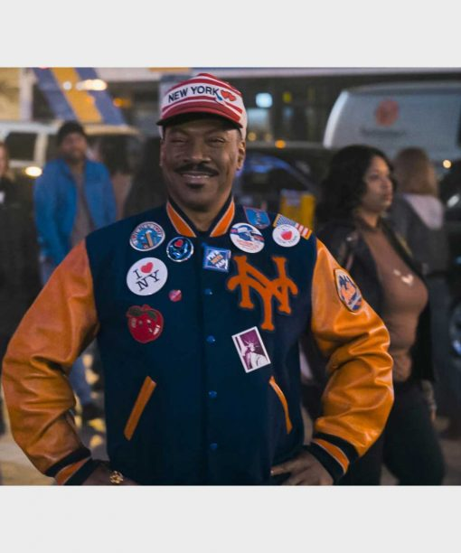 Coming 2 America Eddie Murphy Varsity Jacket with Patches