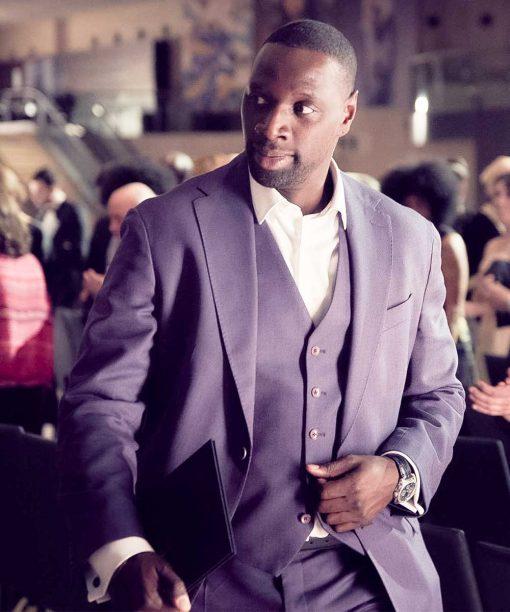 Lupin Omar Sy Purple Blazer