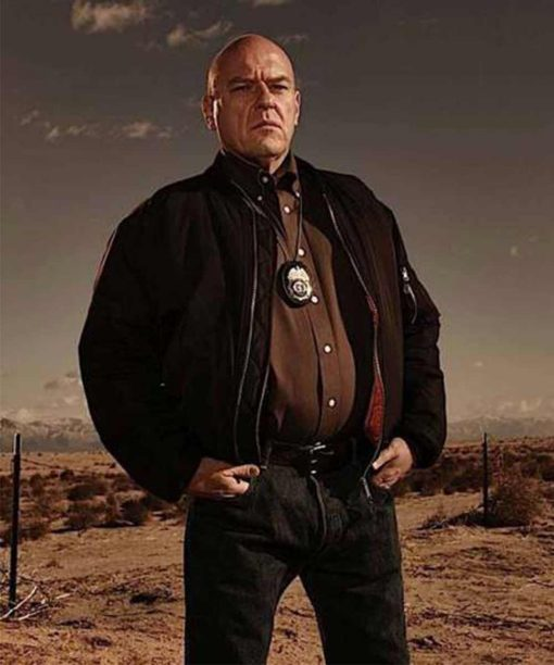Breaking Bad Dean Norris Black Bomber Jacket