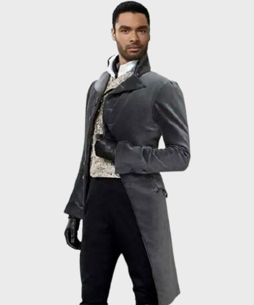 Regé-Jean Page Bridgerton Grey Velvet Tailcoat
