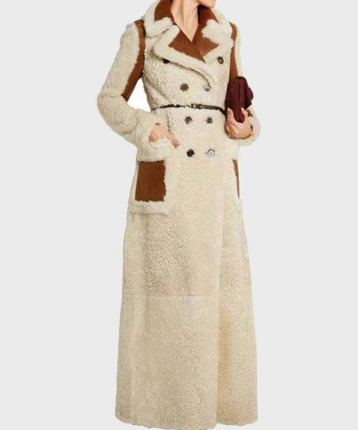 Double-Breasted Camila Shearling Long Coat