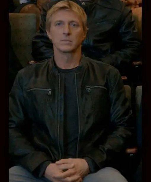 Cobra Kai S03 William Zabka Leather Jacket