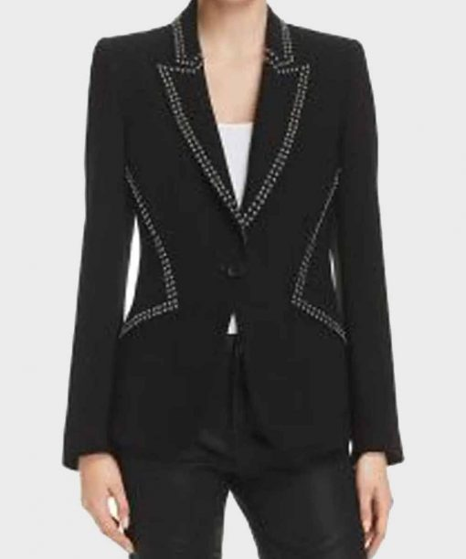 Filthy Rich Melia Kreiling Black Studded Blazer