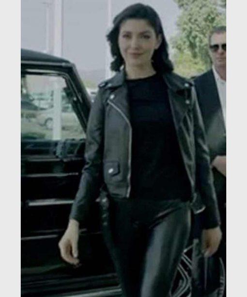 Follow Me Emilia Ares Black Leather Jacket
